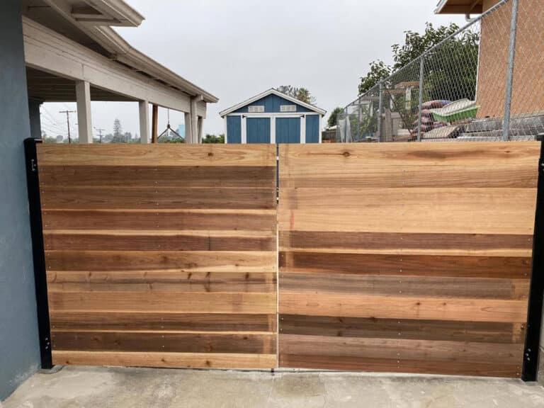 wood wrap around fence el cerrito san diego