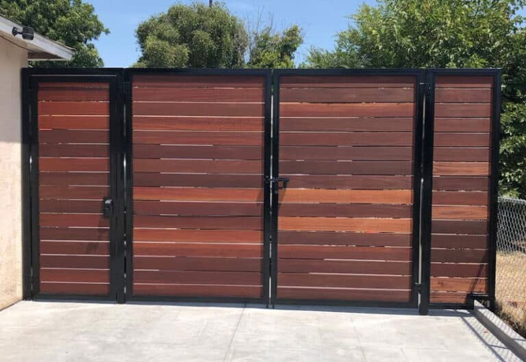 Steel frame and wood gates