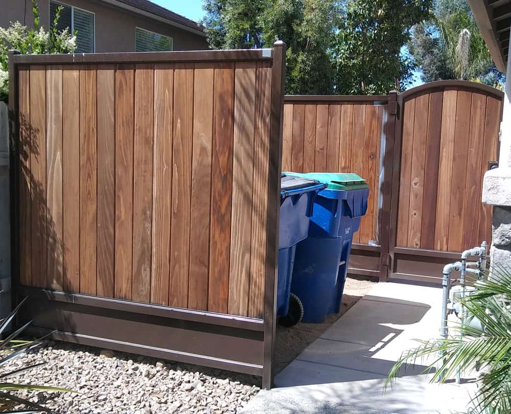 Custom Gate and Panel Trash Enclosure