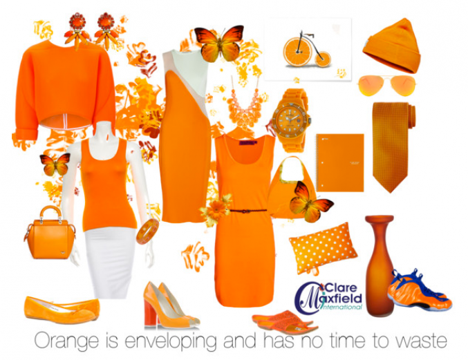 Orange is enveloping and has no time to waste