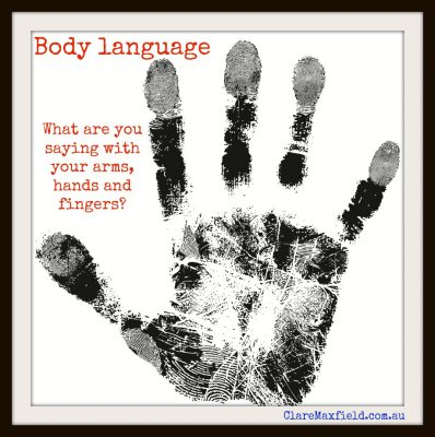 body language hands