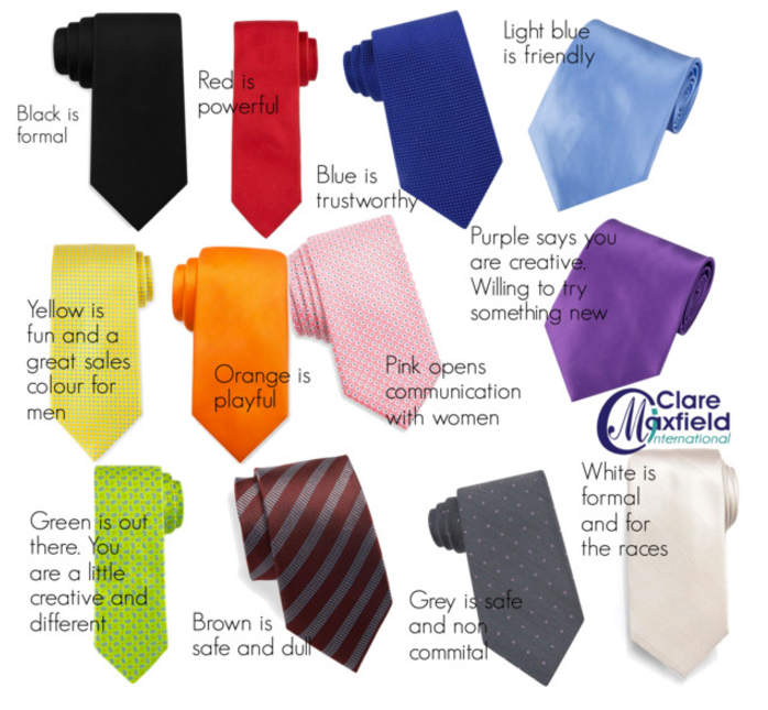 What the colour of your tie says about you