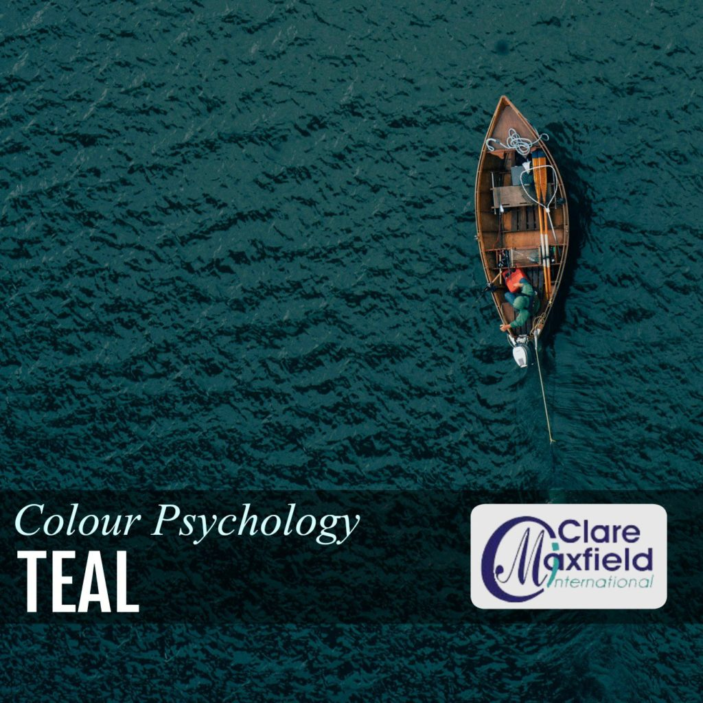 The colour Teal - showing a boat on a teal ocean