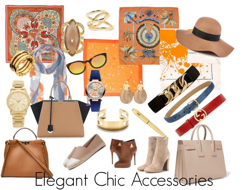 How the Elegant Chic Woman will accessorise