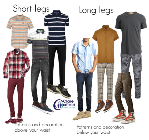 Dressing long and shorts legs for men