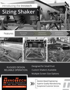 Sizing Shaker Line Card