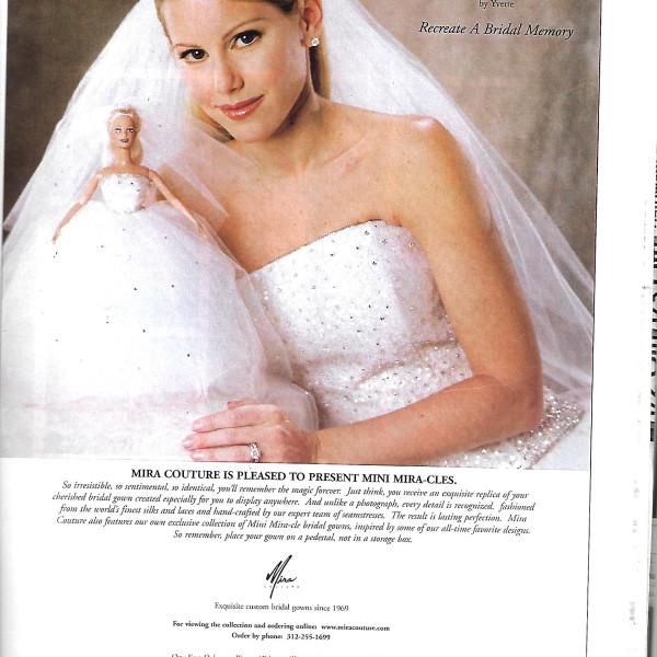 Print Ad features Mini Mira-cles Bridal dolls 2001