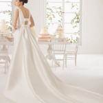 Ariel Aire Barcelona Wedding Bridal Gown Chicago Back