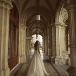 Ester Mira Couture Wedding Bridal Gown Chicago E1602 Organza Ballgown Back