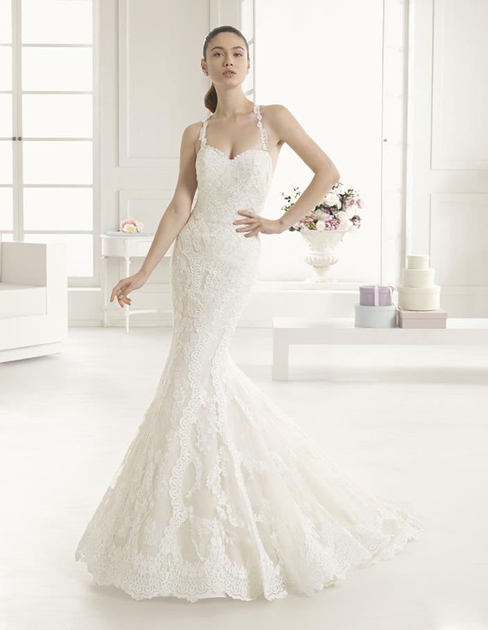Estripe Rosa Clara Two Mira Couture Wedding Bridal Gown Chicago