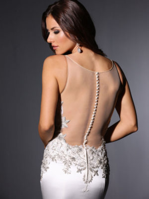 Harlow Cristiano Lucci Wedding Bridal Gown Chicago Back