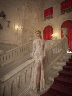 Mira Couture Netta Benshabu Bridal Gown Chicago 1502 Front