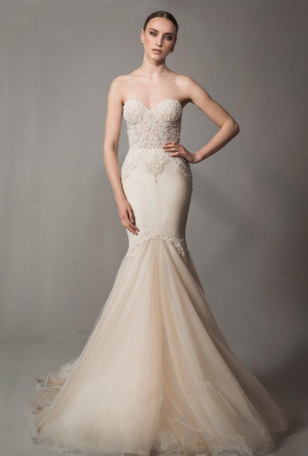 Mira Couture Netta Benshabu Bridal Gown Chicago 1505 Front