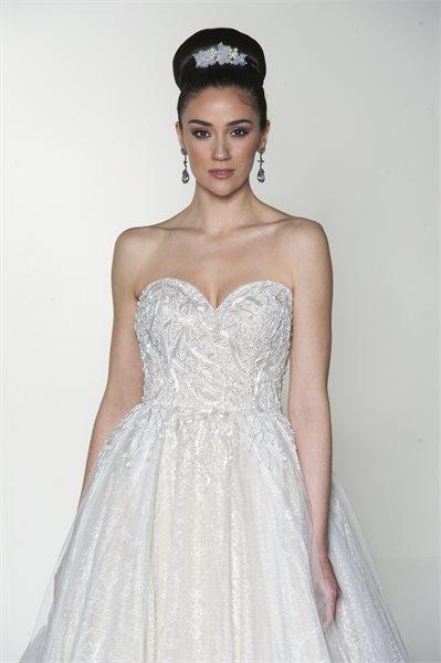 mira couture yumi katsura daphne bridal wedding gown chicago detail front