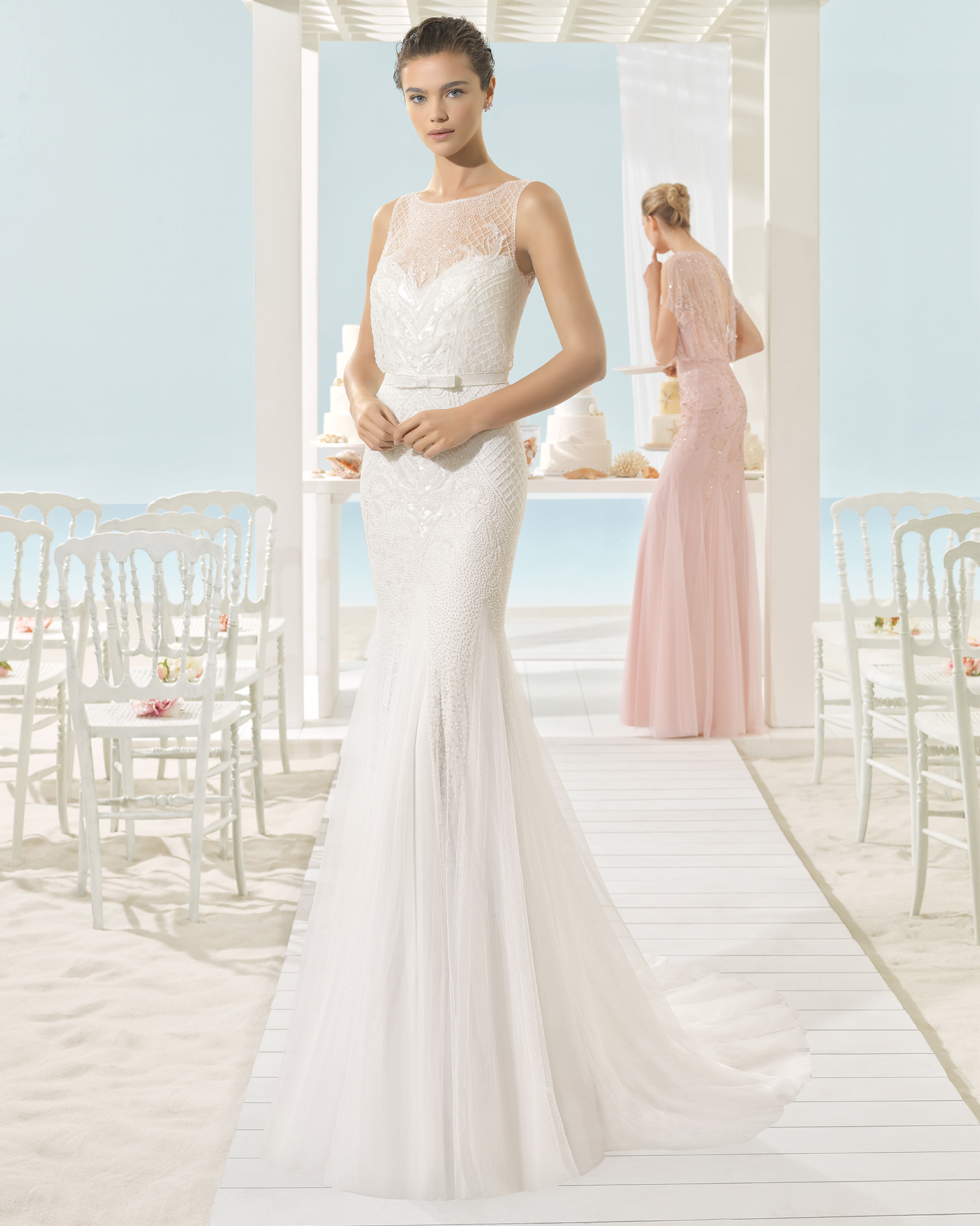 mira couture aire barcelona xana beach bridal wedding dress gown chicago front