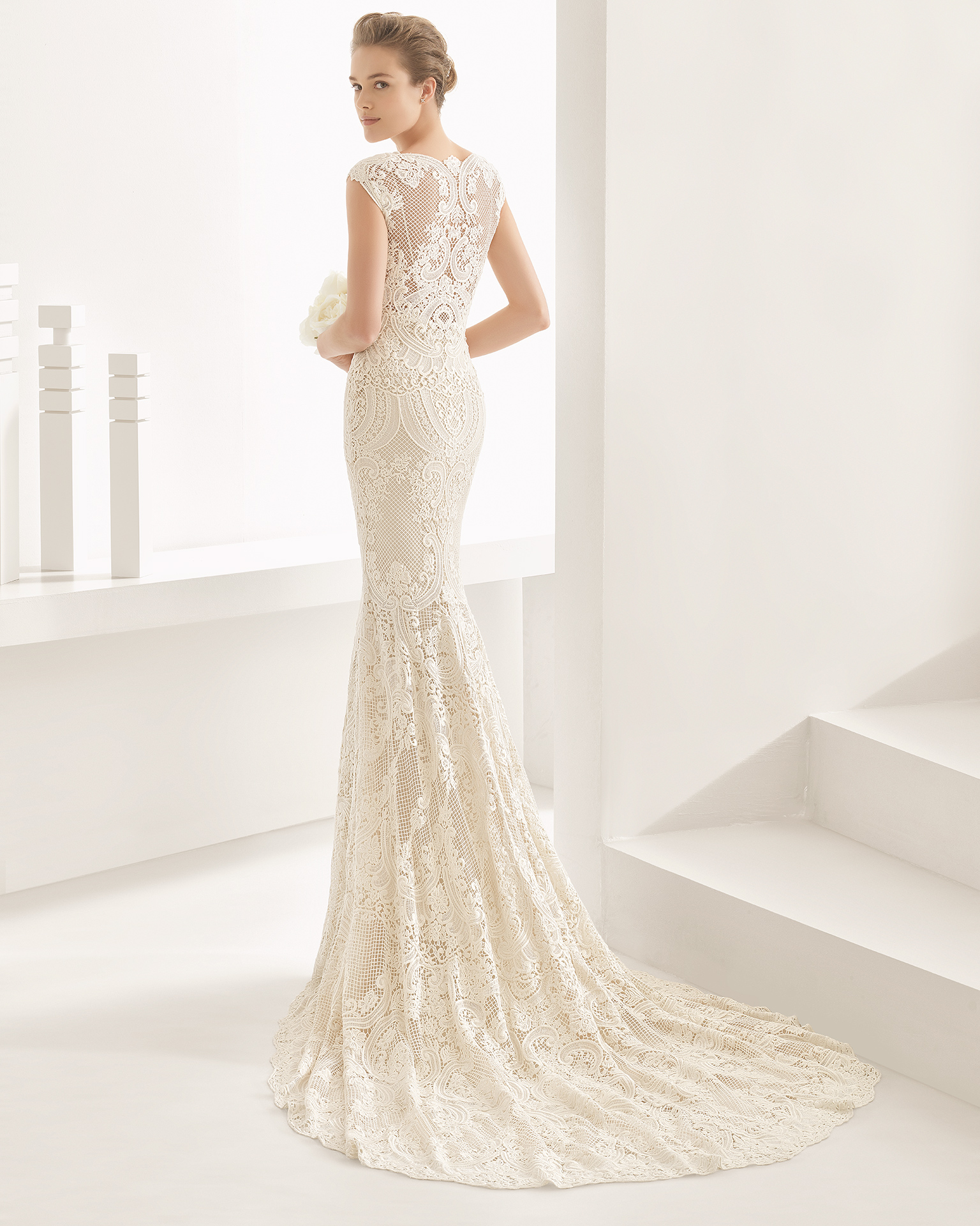 Mira Couture Rosa Clara Natalia Wedding Bridal Gown Dress Chicago Back