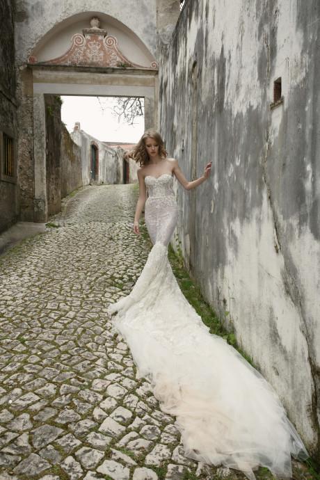 Mira Couture Allesandra Netta Benshabu Bridal Wedding Gown Dress Chicago Boutique Back Full