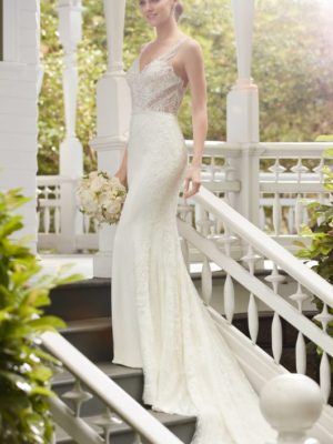 Mira Couture Martina Liana 845 Wedding Bridal Gown Dress Chicago Boutique Side