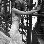 Mira Couture Netta Benshabu Sofhia Wedding Bridal Dress Gown Chicago Boutique Side Close