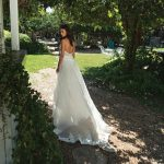Mira Couture Shlomit Azrad Israeli Christin Wedding Bridal Gown Dress Chicago Boutique Back Train