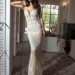 Mira Couture Shlomit Azrad Israeli Floral Wedding Bridal Gown Dress Chicago Boutique Full