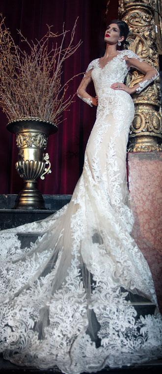 Mira Couture Yumi Katsura Emmanuel Wedding Bridal Dress Gown Chicago Boutique Front