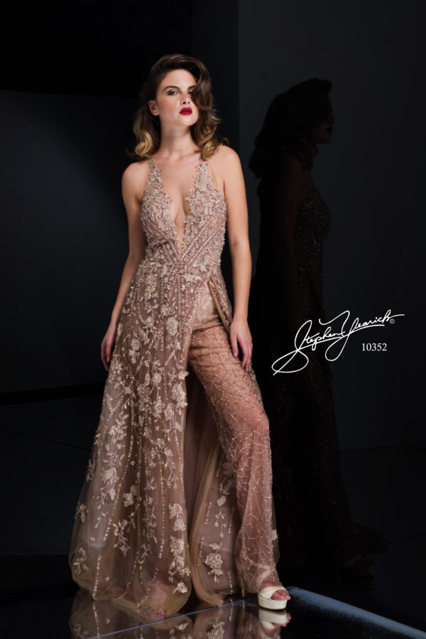 Mira Couture Stephen Yearick Formal Wear Gown Front 10352