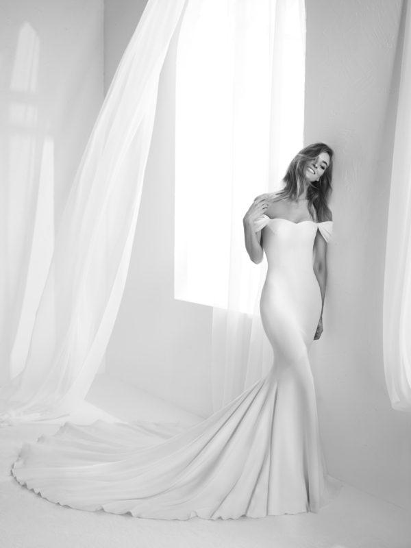 Mira Couture Atelier Pronovias Raciela Wedding Gown Bridal Dress Chicago Boutique Front