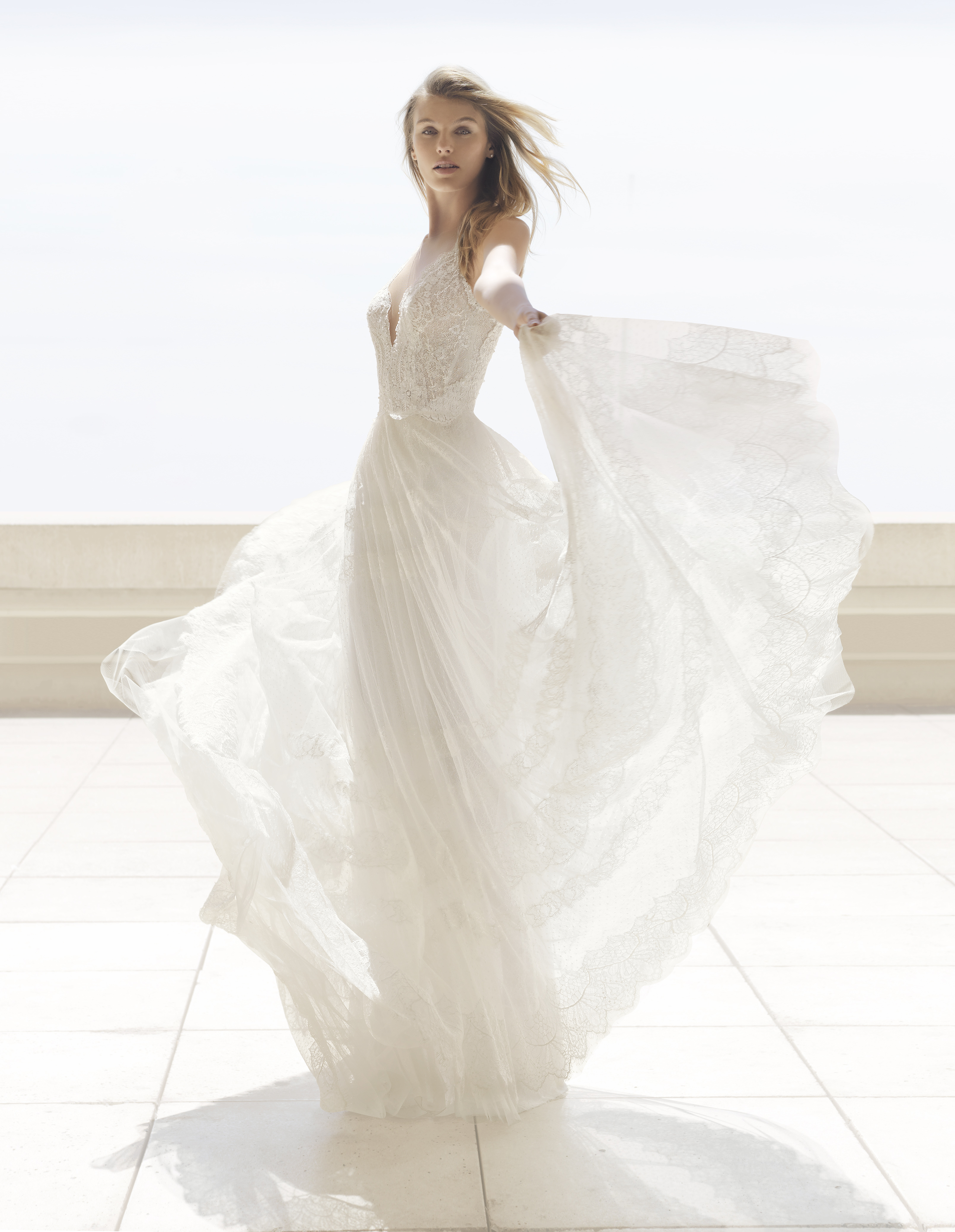 Mira Couture Rosa Clara Couture Perfume Wedding Gown Bridal Dress Chicago Boutique Front
