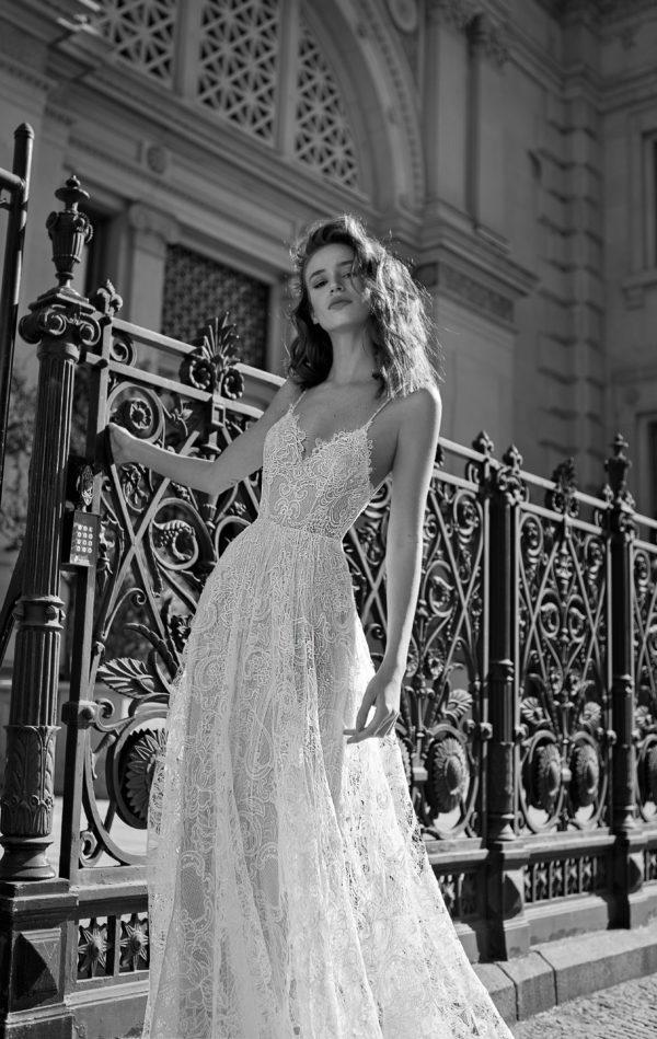 Mira Couture Flora Liv Wedding Gown Bridal Dress Chicago Boutique Front