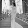 Mira Couture Flora Serah Wedding Gown Bridal Dress Chicago Boutique Front Full