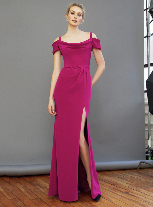 Mira Couture Frascara 3326 Eveningwear Cocktail Dress Chicago Boutique Front