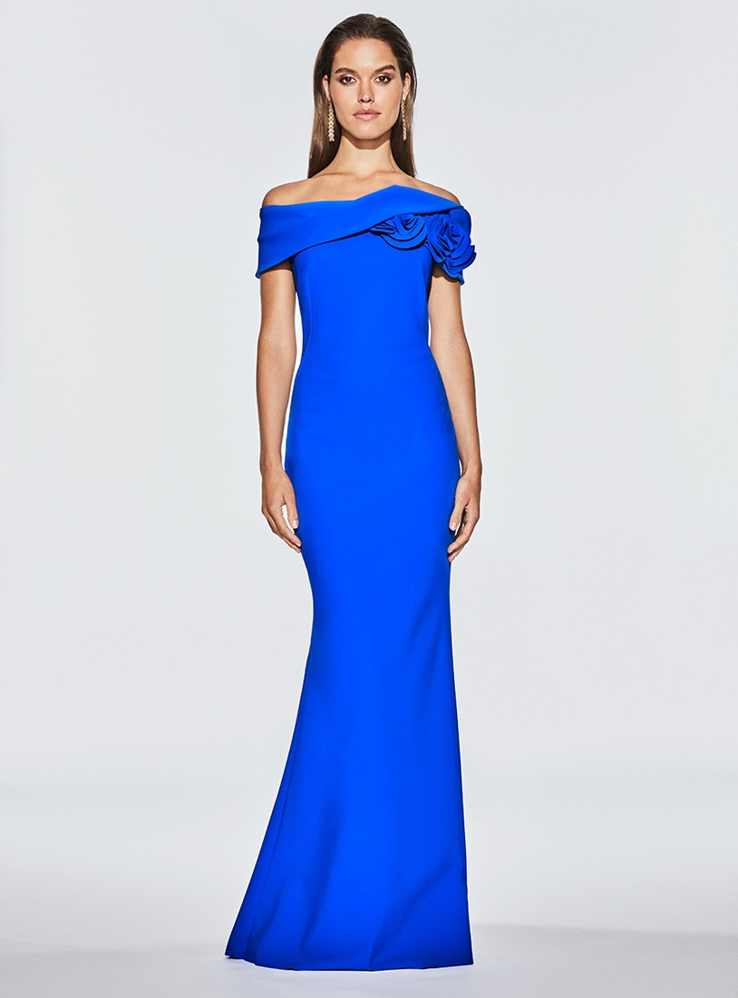 Mira Couture Frascara 3433 Eveningwear Cocktail Dress Chicago Boutique Front