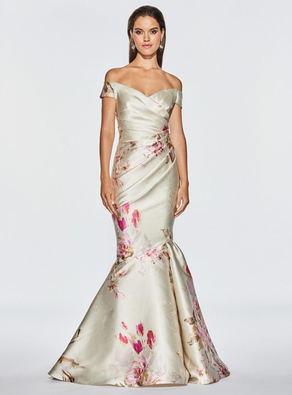 Mira Couture Frascara 3443 Eveningwear Cocktail Dress Chicago Boutique Front