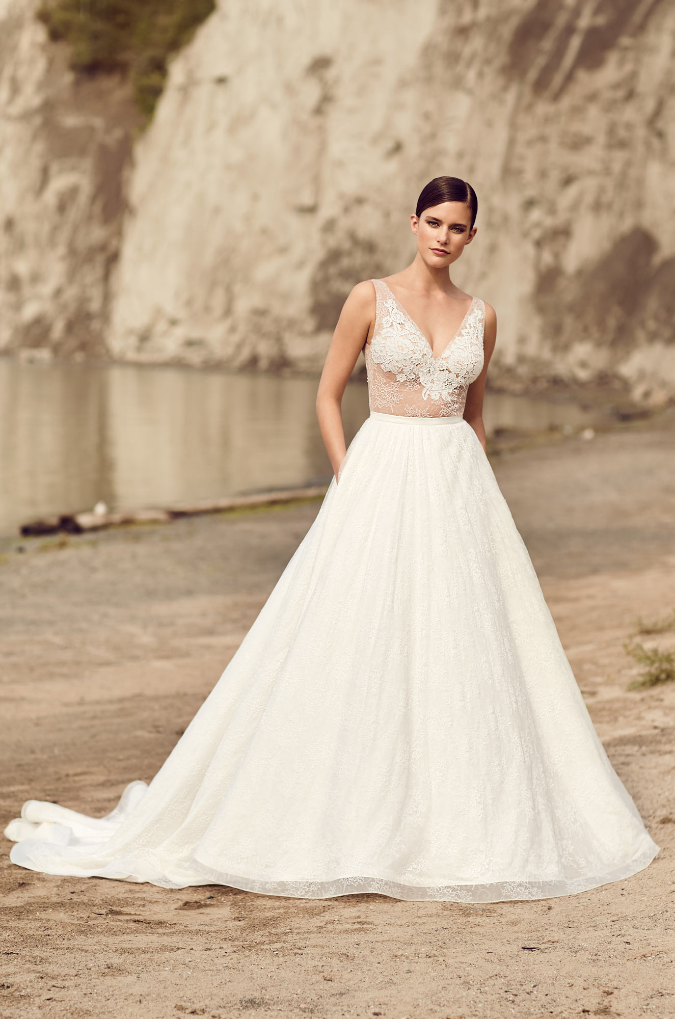 Mira Couture Mikaella 2114 Wedding Dress Bridal Gown Chicago Boutique Front