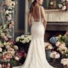 Mira Couture Mikaella 2154 Wedding Dress Bridal Gown Chicago Boutique Back