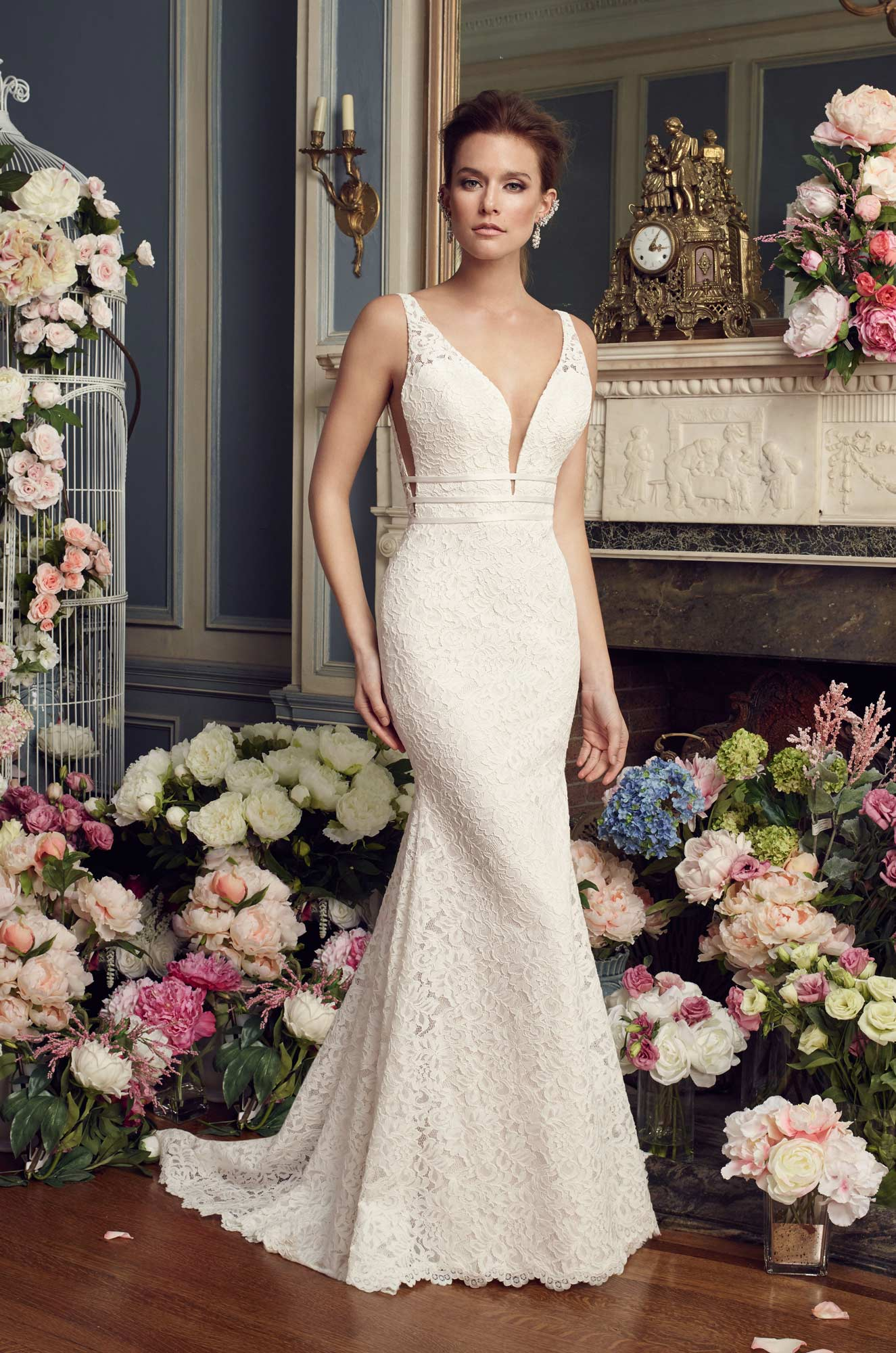 Mira Couture Mikaella 2154 Wedding Dress Bridal Gown Chicago Boutique Front