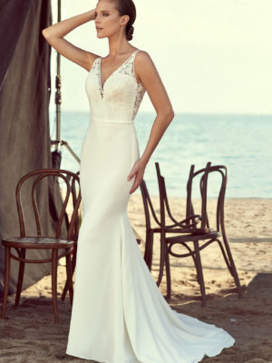 Mira Couture Mikaella 2195 Wedding Dress Bridal Gown Chicago Boutique Front
