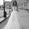 Mira Couture Neta Dover 1100718 Wedding Dress Bridal Gown Chicago Boutique Front Long