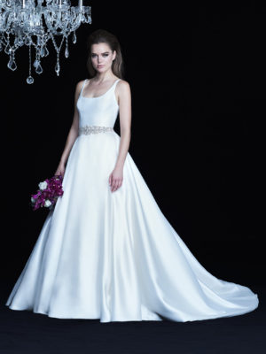 Mira Couture Paloma Blanca 4764 Wedding Dress Bridal Gown Chicago Boutique Front