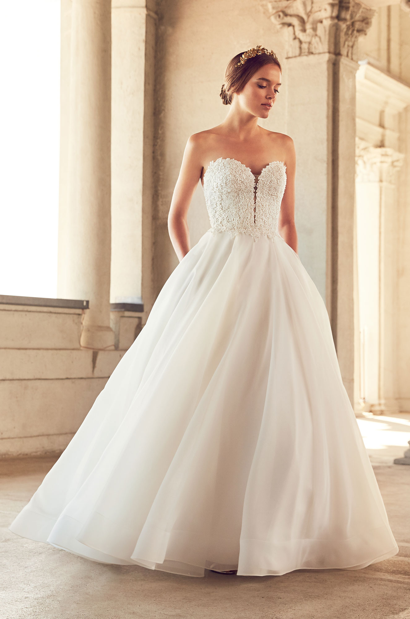 Mira Couture Paloma Blanca 4793 Wedding Dress Bridal Gown Chicago Boutique Front