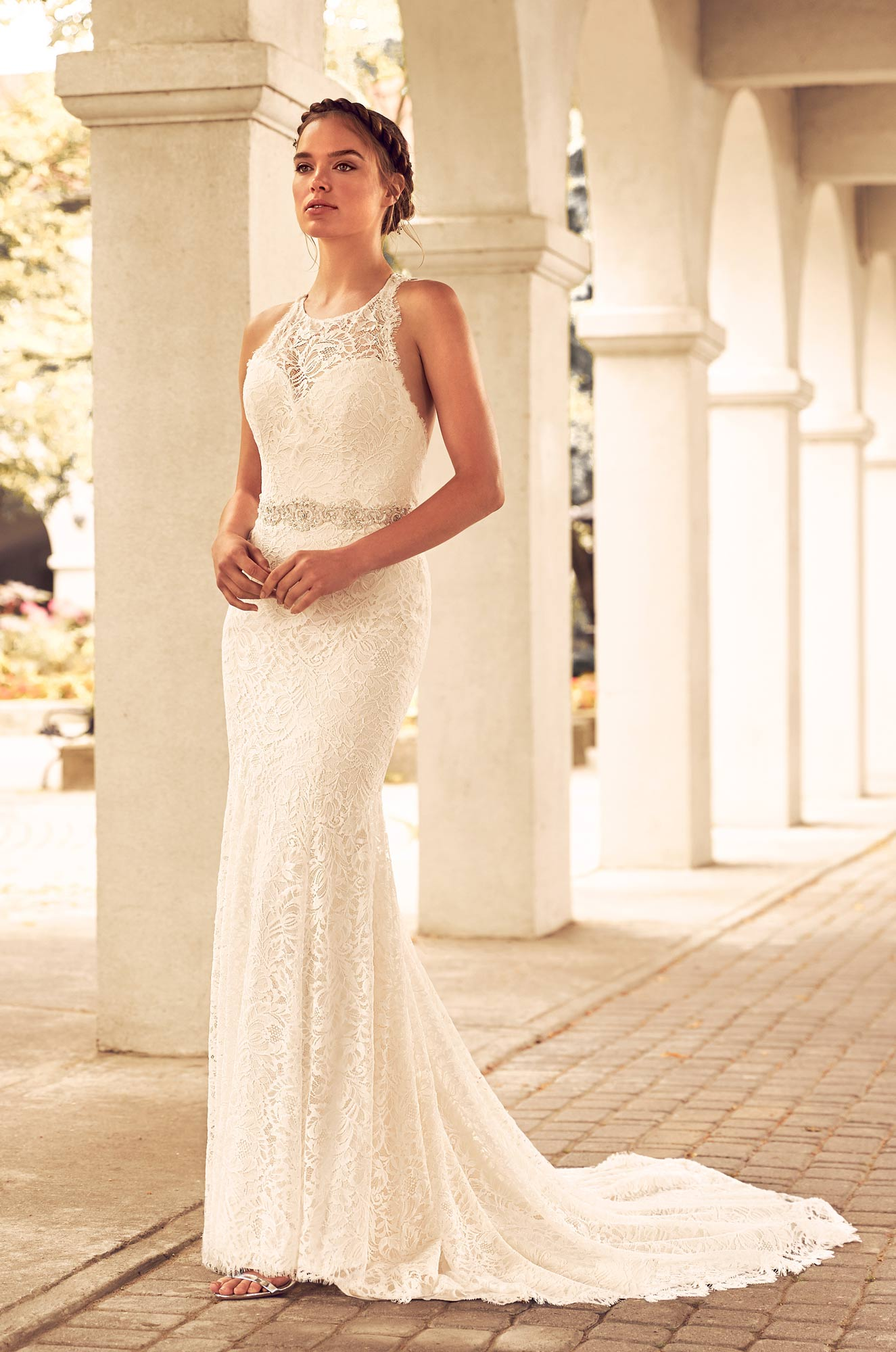 Mira Couture Paloma Blanca 4795 Wedding Dress Bridal Gown Chicago Boutique Front