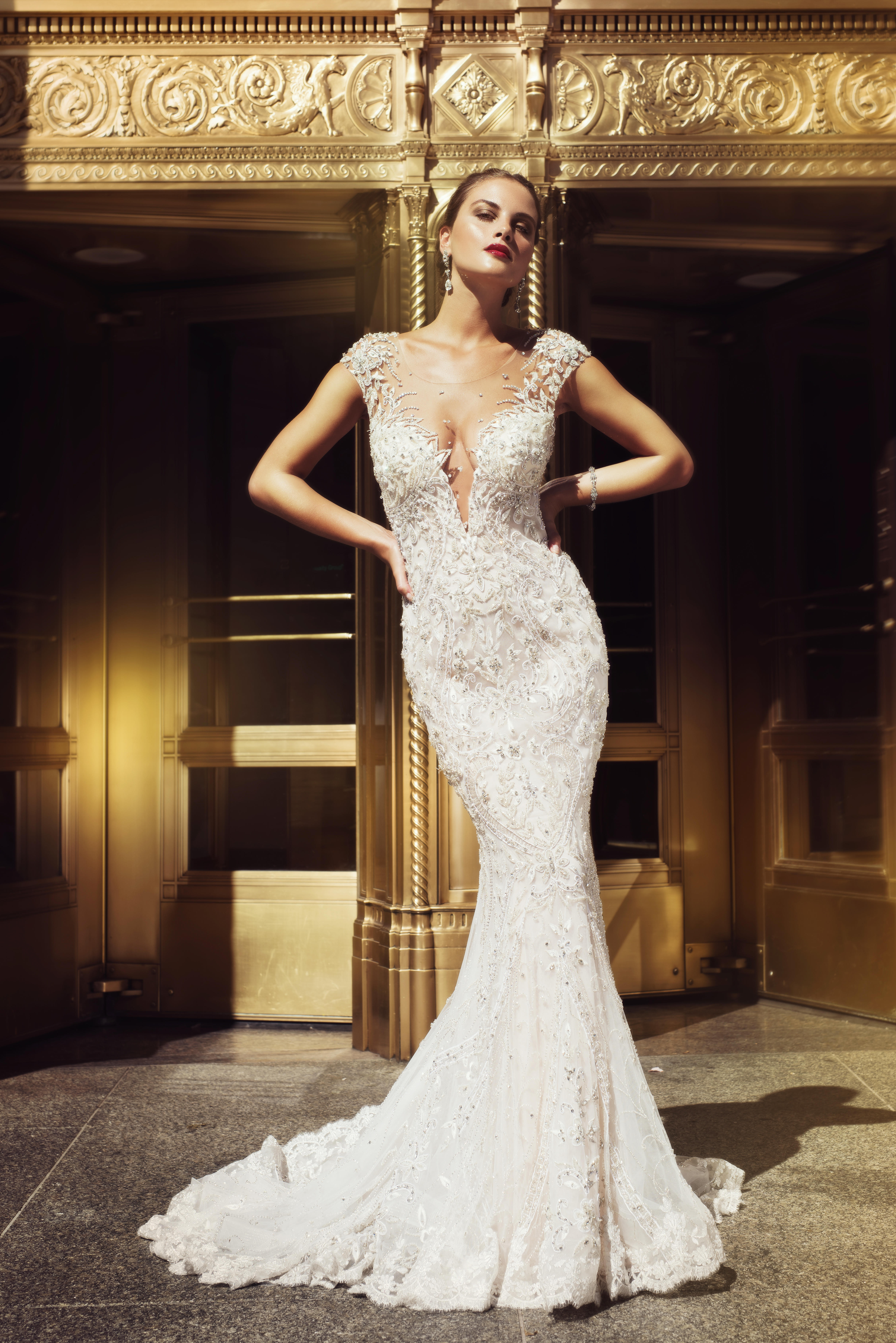 Mira Couture Stephen Yearick 14240 Wedding Dress Bridal Gown Chicago Boutique Front
