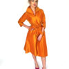 Mira Couture Chicago Boutique Silk Orange Taffeta Custom Dress