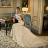 Mira Couture Netta Benshabu Abigail Wedding Dress Bridal Gown Chicago Boutique Sitting