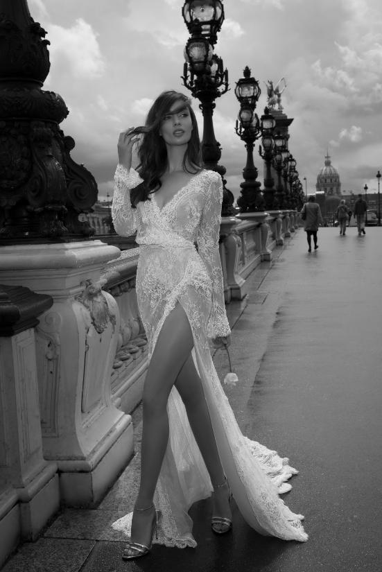 Mira Couture Netta Benshabu Elinore Wedding Dress Bridal Gown Chicago Boutique Full