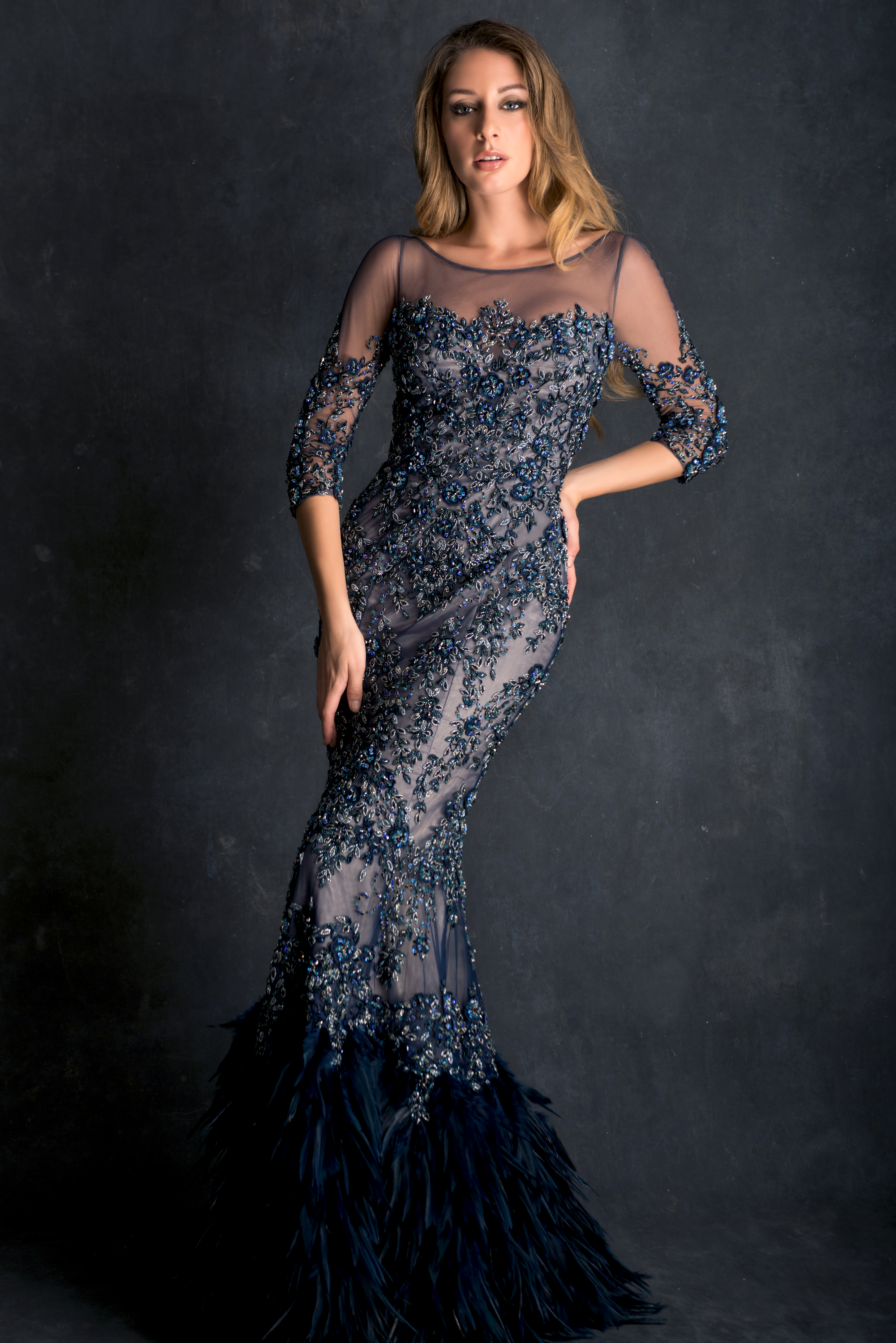 Mira Couture Ysa Makino 27797 Eveningwear Gown Cocktail Dress Chicago Boutique Front