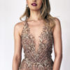 Mira Couture Stephen Yearick 10352x Chicago Boutique Blush Beaded Aline Detail