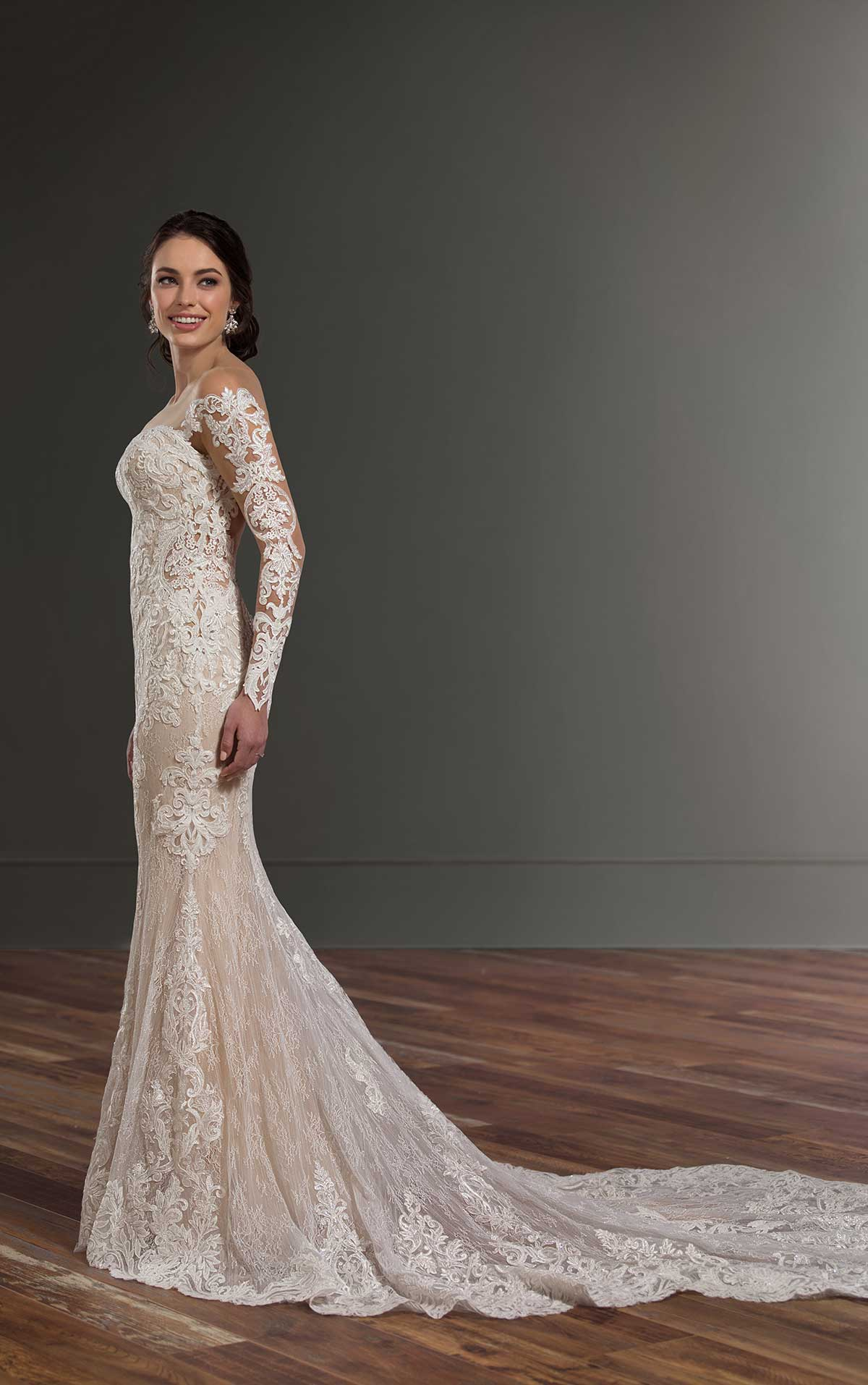 Mira Couture Martina Liana 1015 Wedding Dress Bridal Gown Chicago Boutique Custom Design Full Side
