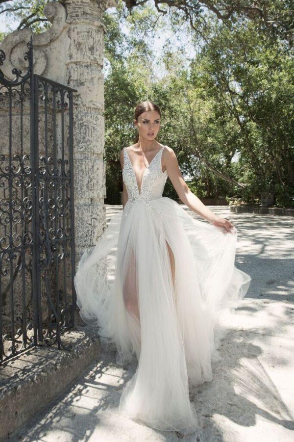 Mira Couture Netta Benshabu Israeli Designer Andriana Wedding Dress Bridal Gown Chicago Boutique Full Front
